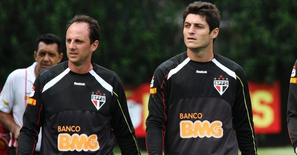 Rogério Ceni e Denis treinam no São Paulo