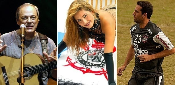Toquinho, Livia Andrade e Edu para a tv timão