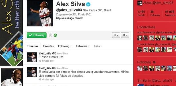 Twitter do Alex Silva