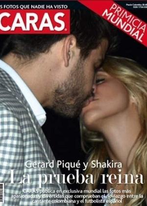 Revista colombiana flagra beijo de Piqué e Shakira