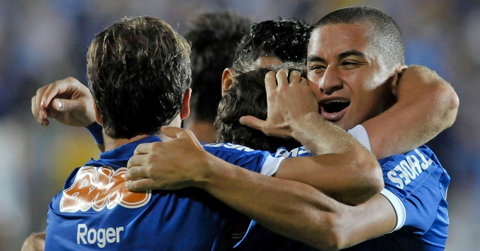 Wellington Paulista durante jogo do Cruzeiro