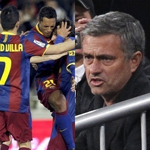 Selo - Barcelona x Real Madrid, de José Mourinho