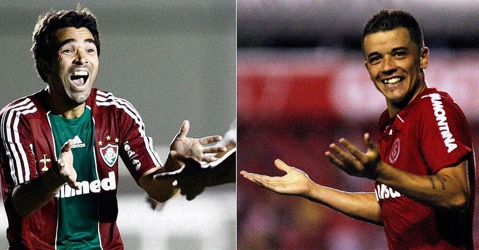 Deco e D'Alessandro, meias de Fluminense e Internacional