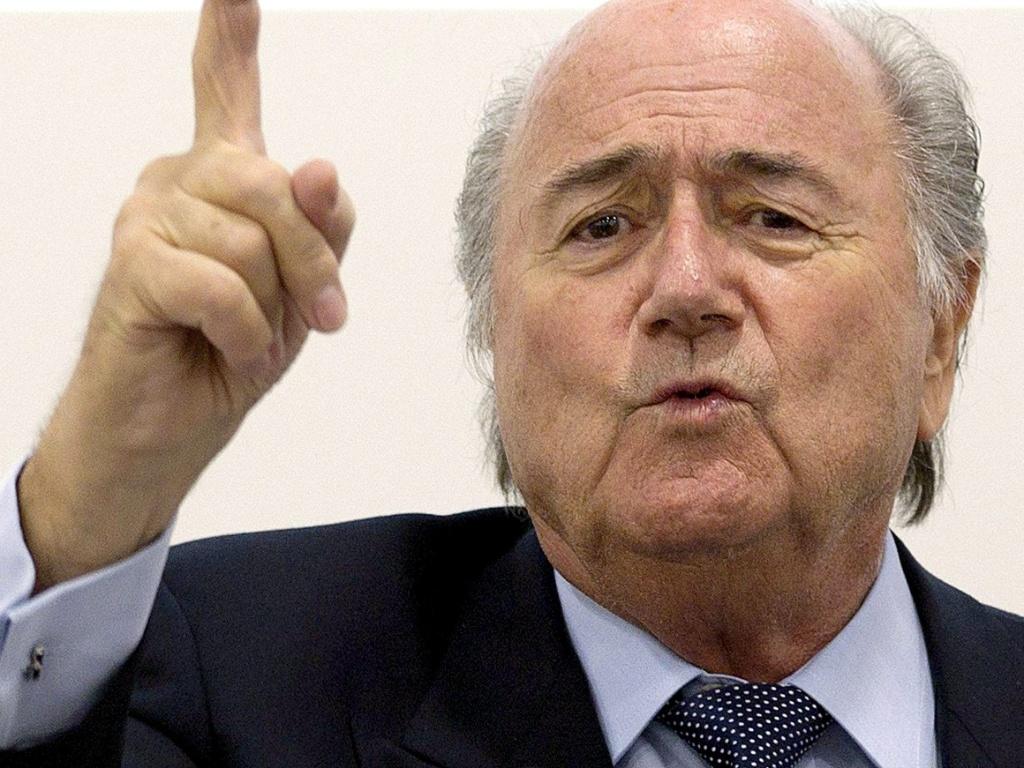 Joseph Blatter faz declarações sobre a Copa do Mundo de 2014 durante evento em Genebra (28/03/2011)