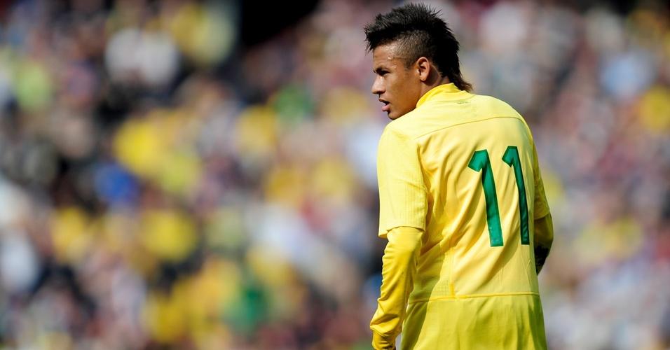 Neymar foi destaque da seleção brasileira em amistoso contra a Escócia