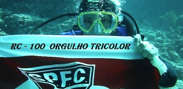 Torcedor são-paulino faz homenagem a Rogério Ceni até debaixo da água