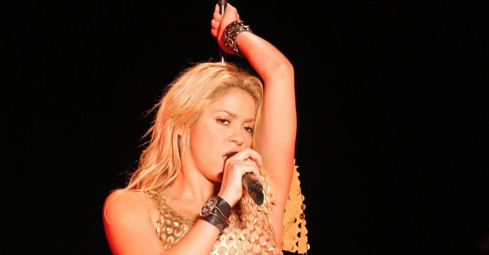 Shakira durante apresentação na República Dominicana