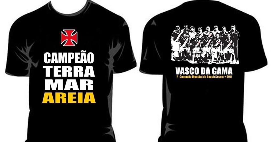 Vasco lança camisa comemorativa pelo título do Mundialito de Futebol de Areia (01/04/2011)