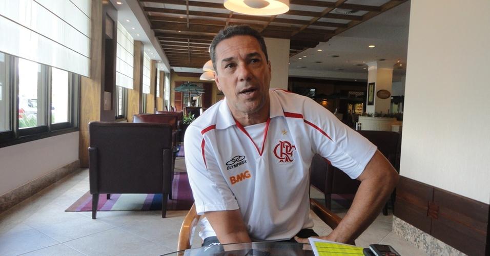 Vanderlei Luxemburgo, técnico do Flamengo, em entrevista exclusiva ao UOL Esporte
