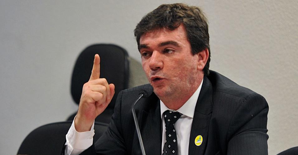 Andrés Sanchez fala durante audiência pública sobre direitos de transmissão