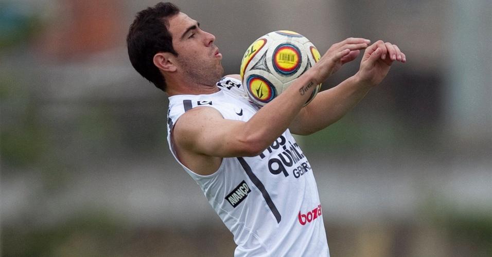 Bruno César treina no CT do Corinthians (12/4/2011)