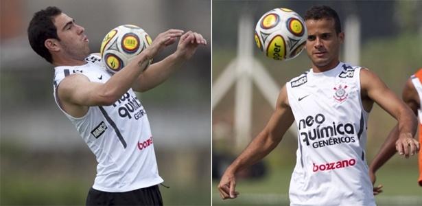 Bruno César e Morais durante treino no Corinthians