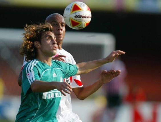 Valdivia e Alex Silva participam do clássico entre São Paulo x Palmeiras (01/04/2007)