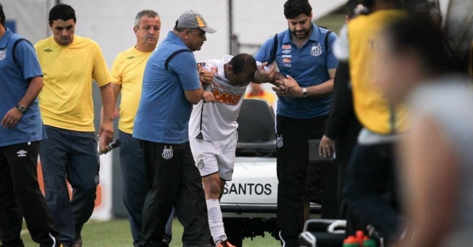 Léo, jogador do Santos (23/04/2011)
