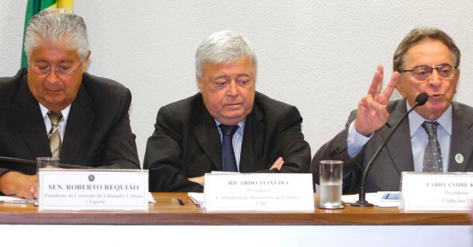 Ricardo Teixeira e Fábio Koff participam de debate sobre direitos de TV no Senado Federal (27/04/2011)