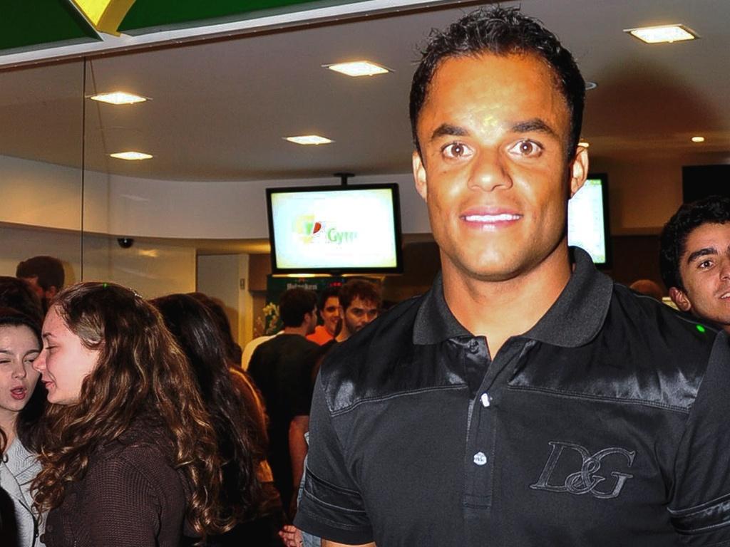 Mancini durante recepção em seu restaurante em Belo Horizonte (26/4/2011)