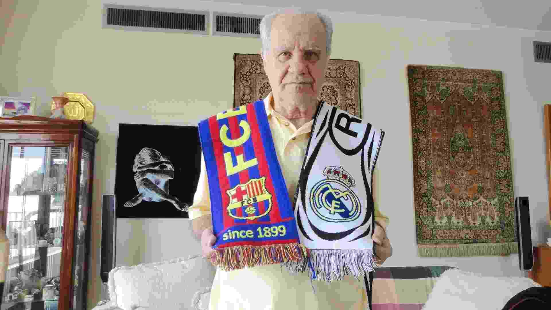 Evaristo de Macedo, ídolo dos rivais Barcelona e Real Madrid - Vinicius Castro/ UOL Esporte