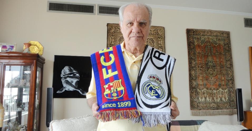 Evaristo de Macedo, ídolo dos rivais Barcelona e Real Madrid