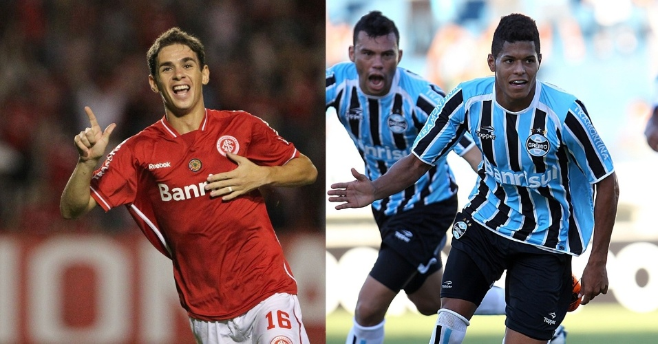 Montagem Meia Oscar do Inter e atacante Leandro do Grêmio - 615x300