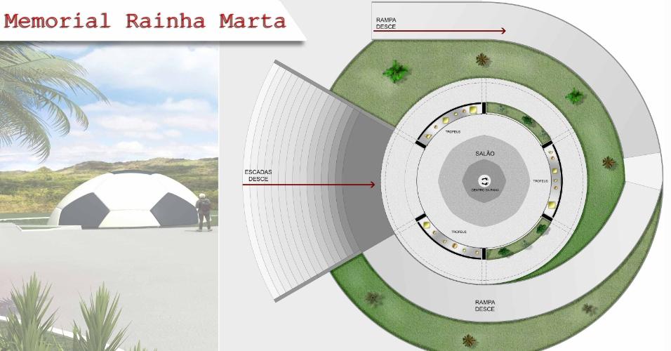 Projeto do memorial que Alagoas construirá em homenagem a Marta