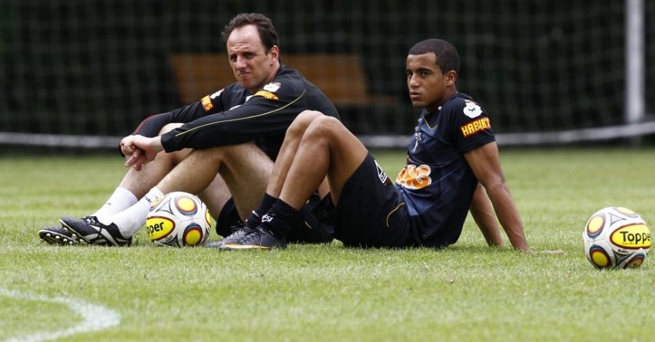Rogério Ceni e Lucas, do São Paulo