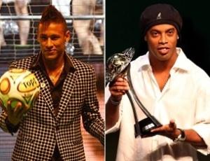 Neymar e Ronaldinho Gaúcho chamaram a atenção com roupas extravagantes em premiação dos estaduais