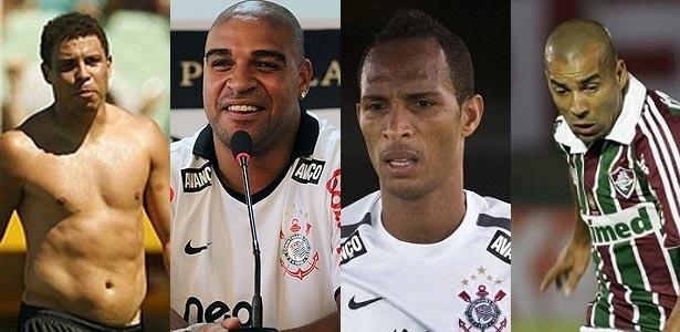 Ronaldo, Adriano, Liedson e Emerson possuem duas características semelhantes