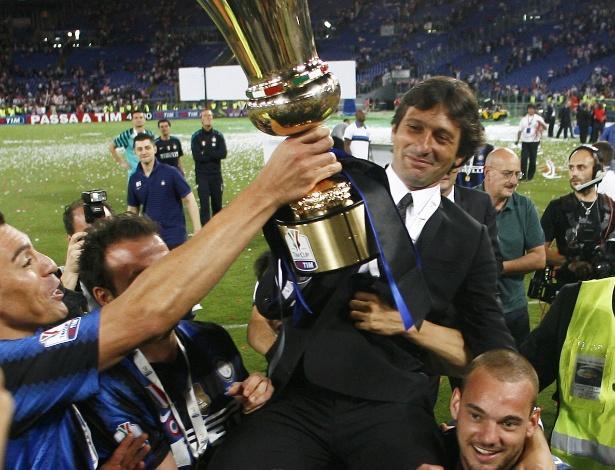 Leonardo já treinou a Inter de Milão e conquistou a Copa da Itália com o clube em 2011 - Marcello Paternostro/AFP Photo