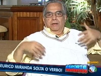 Eurico Miranda em programa da TV Record