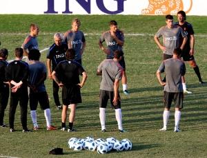 A seleção holandesa já treinou no Flamengo na preparação para o amistoso contra o Brasil