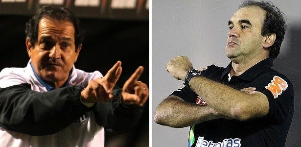 Muricy e Ricardo Gomes estiveram à frente do São Paulo nesta fase sem títulos - Fotos de REUTERS/Paulo Whitaker e Marcelo Sadio/Site oficial do Vasco