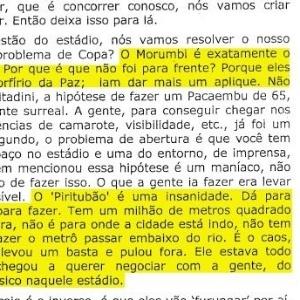 Rosenberg comentou a exclusão do Morumbi no plano para sediar Copa: iam dar mais um aplique