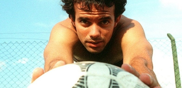 Palhinha em treino do São Paulo em 1996