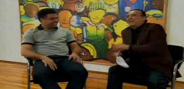 Ronaldo é entrevistado por Galvão Bueno para quadro do Esporte Espetacular