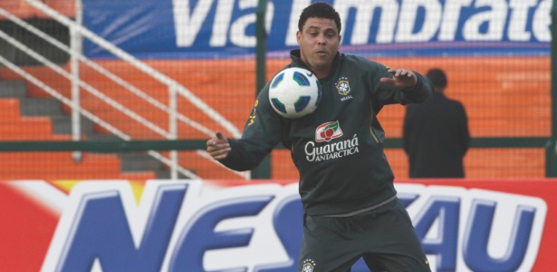 Ronaldo faz último treino pela seleção brasileira, antes do amistoso com a Romênia - Mowa Press/Divulgação