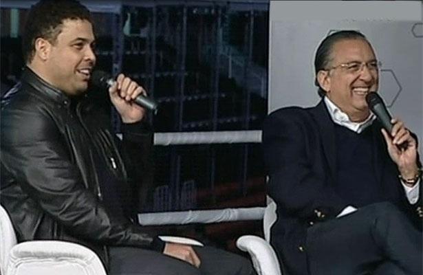Ronaldo e Galvão Bueno conversam no programa Bem, Amigos (06/06/2011)