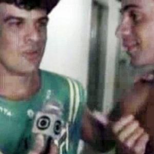 Túlio Maravilha junto com o seu irmão gêmeo Télvio, ex-jogador de futebol