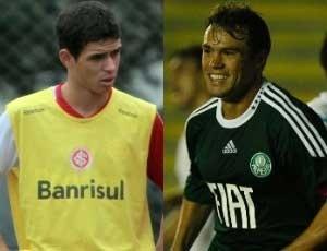 Montagem com Oscar, do Inter, e Kleber, do Palmeiras, para o Abre da Rodada