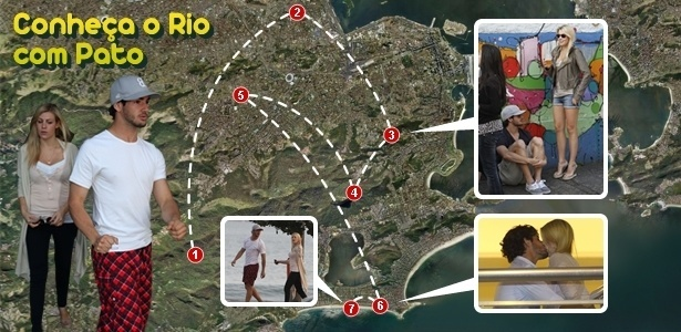 Roteiro do atacante do Milan inclui alguns dos principais pontos turísticos do Rio  - Arte/UOL