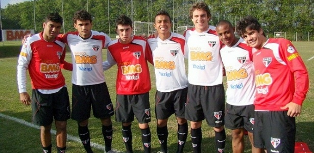 Casemiro, Willian José, Henrique Miranda, Luiz Eduardo, Bruno Uvini, Wellington e Henrique