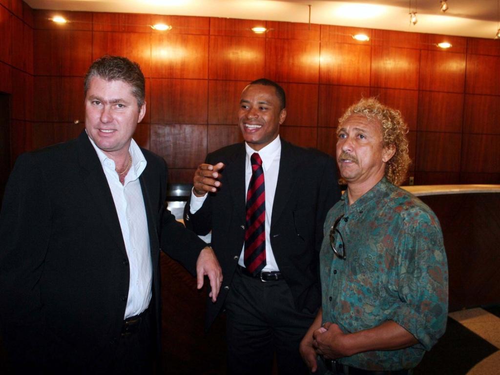 Wilson Mano, Paulo Sérgio e Biro-Biro durante evento do Corinthians (18/07/2006)