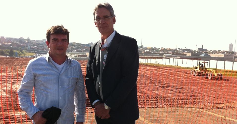 Andrés Sanchez e Frederico Barbosa, gerente de operações da Odebrecht