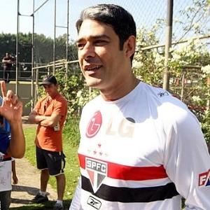 William Bonner com a camisa do São Paulo