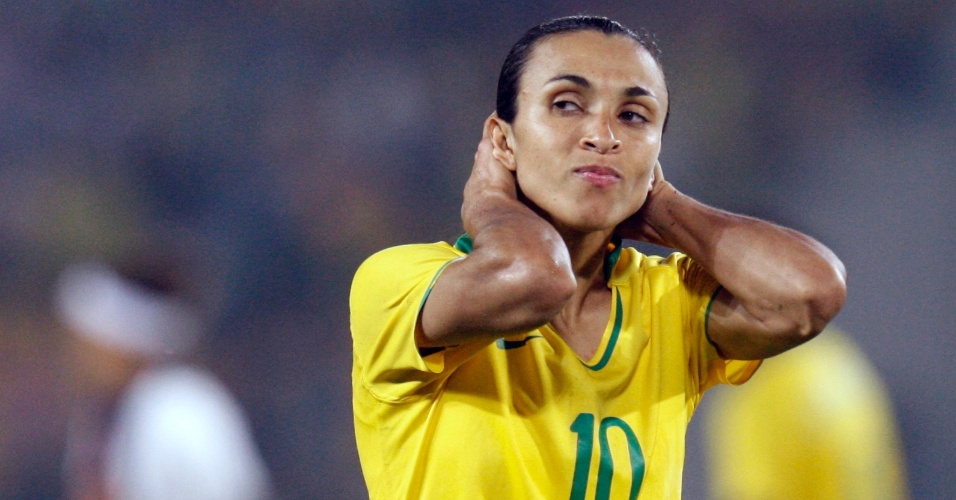 Marta lamenta derrota da seleção brasileira na final das Olimpíadas