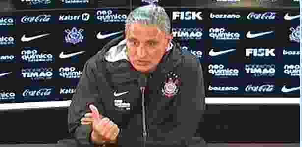 TV Corinthians transmite coletiva do técnico Tite após acompanhar treino da terça - Reprodução