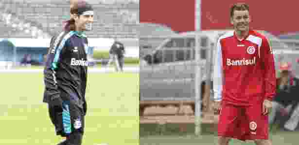 "Argentinos Miralles e D""Alessandro comprovam que gaúchos apostam nos estrangeiros - Foto Miralles (Wesley Santos/Pressdigital) e D""Alessandro (Lucas Uebel/Vipcomm)"