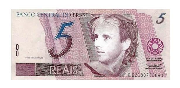 Nota de cinco reais de Rogério Ceni