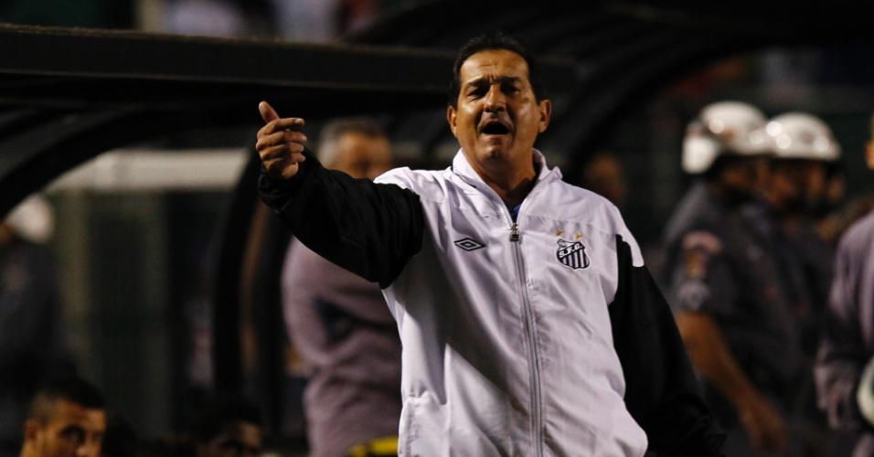 Muricy em partida do Santos contra o América-MG (02/07/2011)