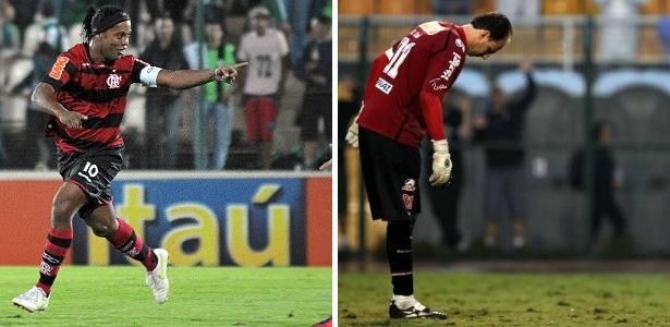 Montagem com Ronaldinho e Rogério Ceni