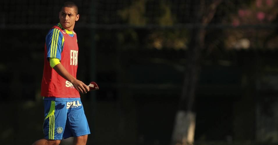 Wellington Paulista é fotografado durante treino do Palmeiras na Academia (17 de junho de 2011)